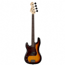 Revelation Left Handed Electric Bass Guitar in Sunburst